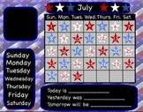 July Interactive Flipchart Calendar for Promethean Board