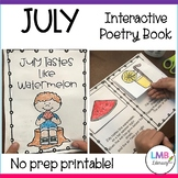 July Interactive Poetry Book