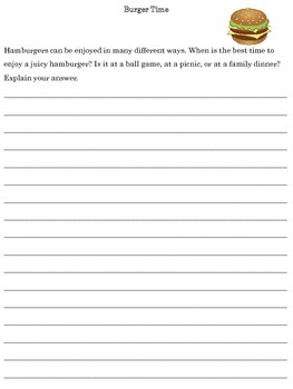 July Journal Writing Booklet