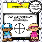 July Kindergarten Digital Daily Math Talks For GOOGLE SLIDES