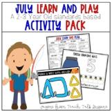 July Learn and Play Toddler Activity Packet-Toddler Activities