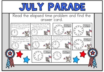 July Math Centers 4th of July Math First Grade