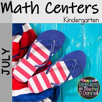 July Math Centers 4th of July Math Kindergarten