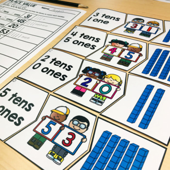 July Math Centers & Activities for 1st Grade