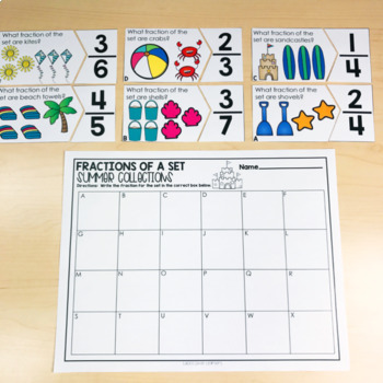 July Math Centers and Activities for 2nd Grade