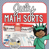 July Math Sorts - CCSS Aligned for Grades K-2