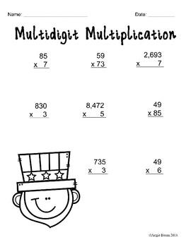 July Math and Literacy Printables No Prep