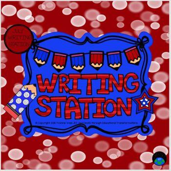 July Mini Writing Station