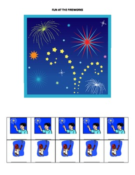 July Monthly Name Game for Articulation and Language: Fun at the Fireworks