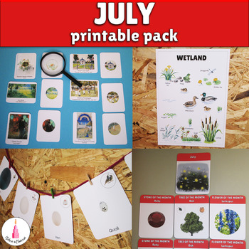 July Monthly Printable Packet