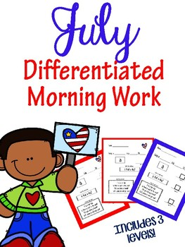 July Morning Work: Pre-Primer for Special Education