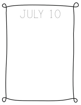 July NO PREP Journal Pages (Early Childhood)