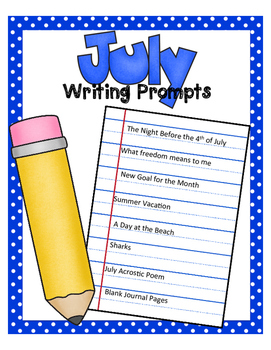 July NO PREP Journal Prompts - FREEBIE