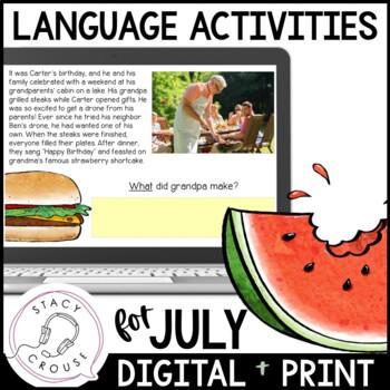 July NO PRINT Language Pack Interactive PDF {With Print Option}