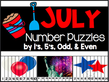 July Number Puzzles {45 Puzzles Included}