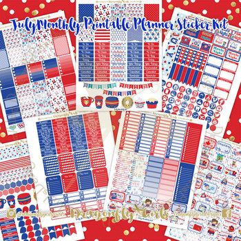 July Planner Stickers Kit