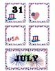 July Pocket Calendar Cards