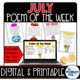 July Poem and Book Set