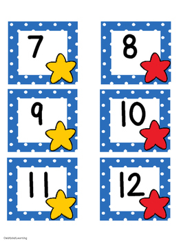 July Polka Dot Calendar Set