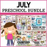 July Preschool Activities Bundle
