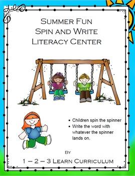 July Preschool Summer Center Activities