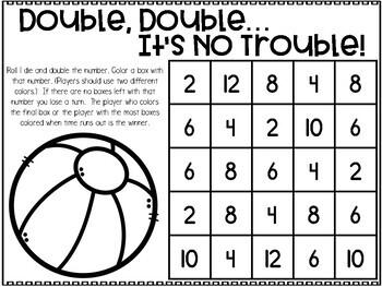 July Printable Math Games