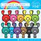 July Rainbow Club Clipart Bundle