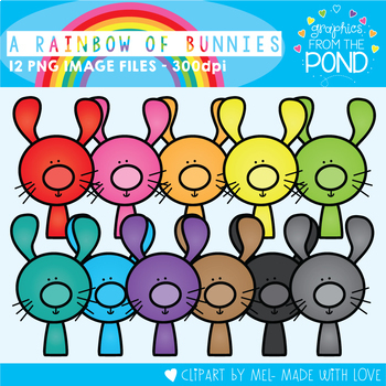 July Rainbow Club Clipart Bundle