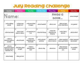 July Reading Challenge