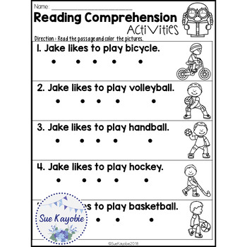 July Reading Comprehension Activities