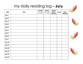 July Reading Log