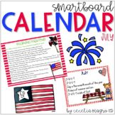 July SMARTBoard Calendar **Common Core Aligned**