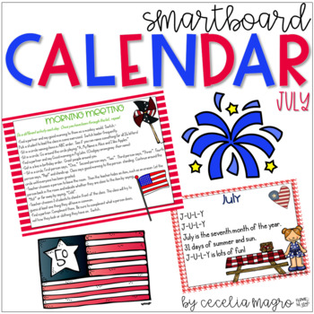 July SMARTBoard Calendar **Common Core Aligned**