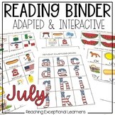 July SPED Adapted Reading Binder