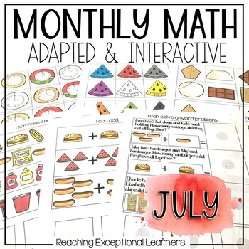 July SPED Math Adapted Workbook