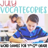 Vocabulary Games for Kids - July - 4th of July - Summer