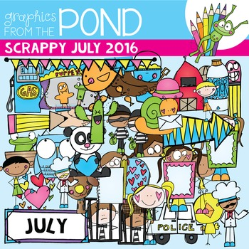 July Scrappy Addicts - 2016