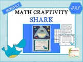 July Shark Math Craftivity