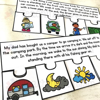 July Short Story Sequencing Jigsaws