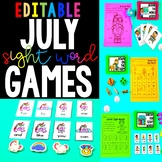 July Sight Word Games - Editable