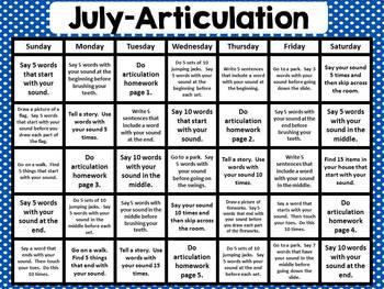 July Speech Homework