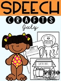 July: Speech Therapy Crafts