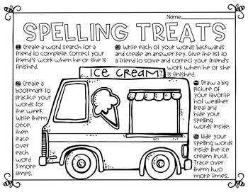 July Spelling Activities
