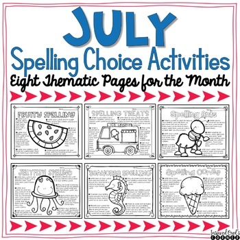Spelling Activities for Any List of Words - July