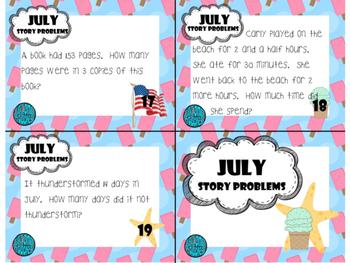 July Story Problems