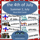 July / Summer / 4th of July Word Wall Cards! English version