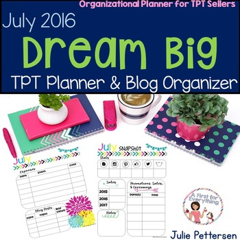 July TPT Planner and Organizer