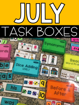 July Task Boxes