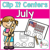 July Tens Frame Clip It Centers