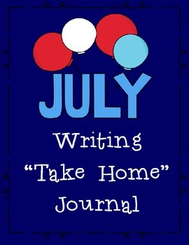 July Themed Take Home or Classroom Writing Journal